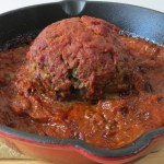 Giant meatball with Ricotta Cheese 004