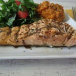 Maple Mustard Glazed Grilled Salmon
