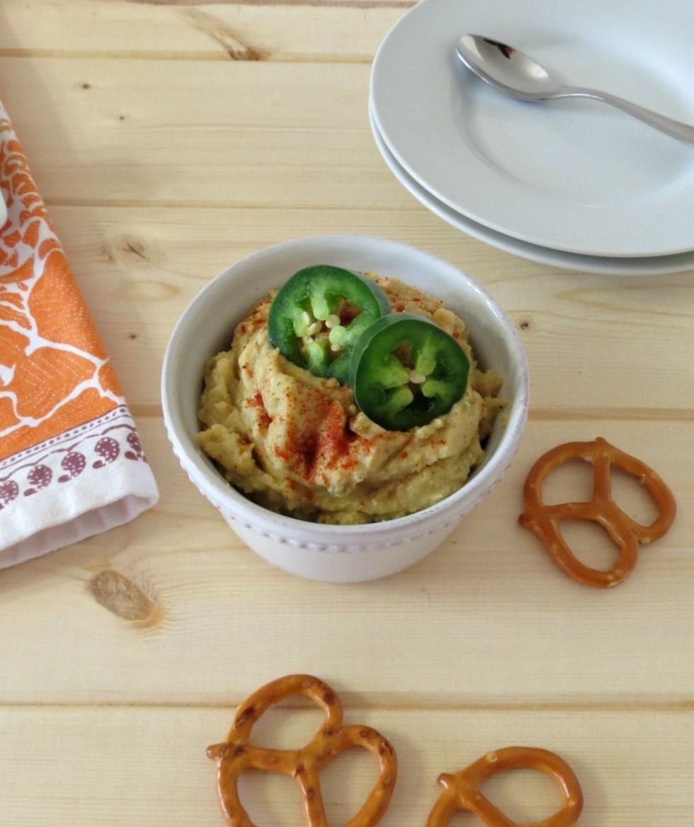 Pickled Jalapeno and Artichoke Hummus