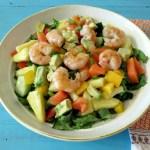 Tropical Shrimp Salad with Pineapple Mango Dressing