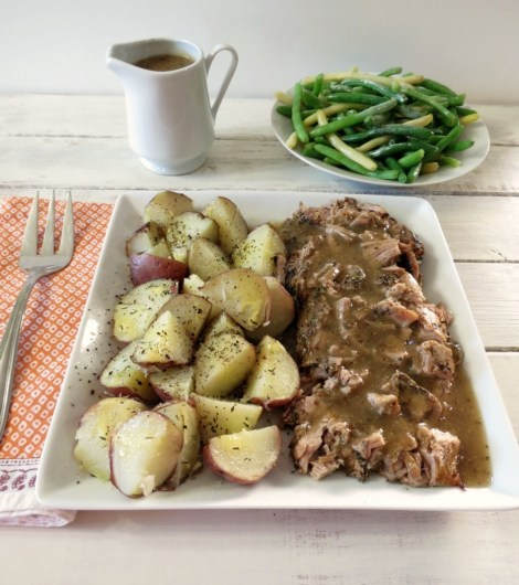Pork Tenderloin with Savory Apple Gravy