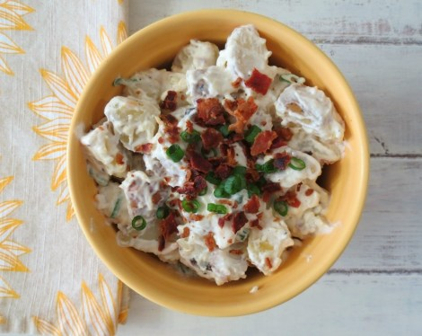 FLightened Up Fully Loaded Baked Potato Salad