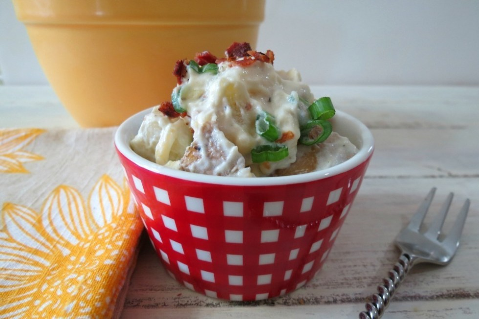 Lightened Up Fully Loaded Baked Potato Salad