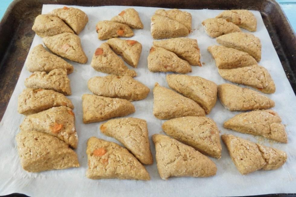 Apricot Scones with Orange Glaze