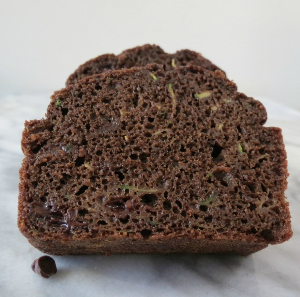 Lightended Up Chocolate Chip Zucchini Bread