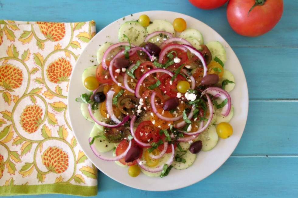 Cucumber and Tomato Summer Time Salad