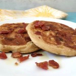 Maple Bacon Whole Wheat Pancakes