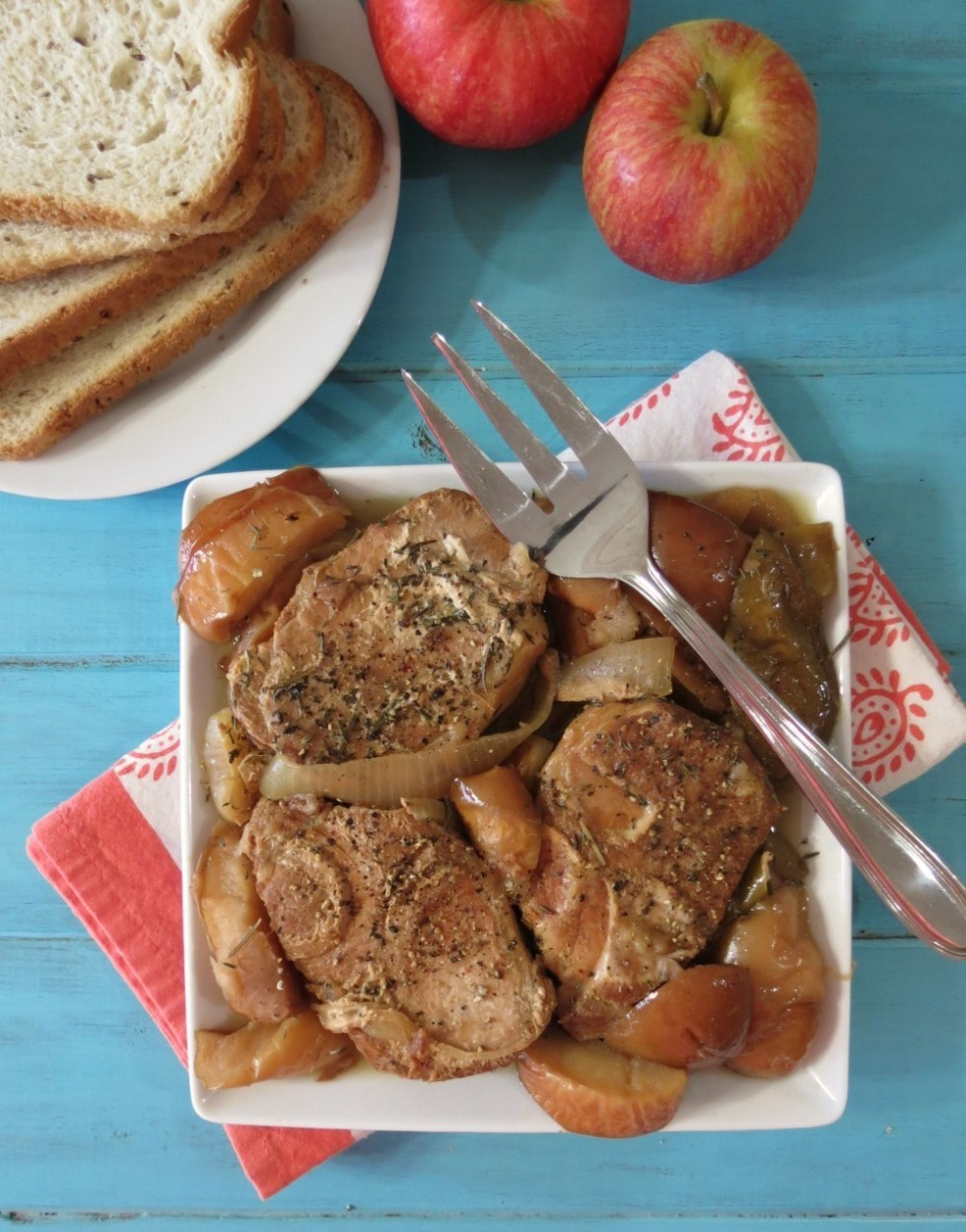 Apples and Pork Loin in the Crockpot