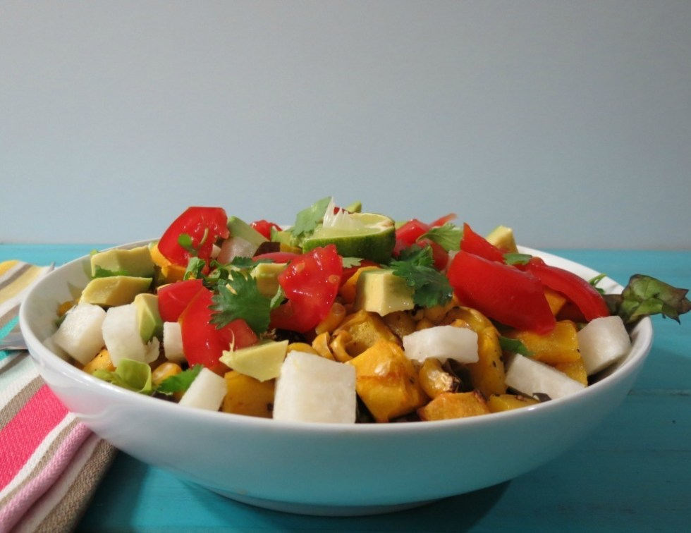 Roasted Squash and Mexican Black Bean Salad