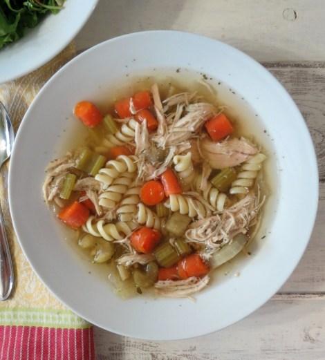Chicken Noodle Soup in Crockpot