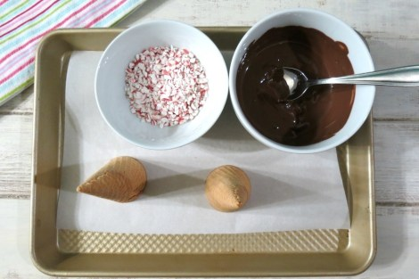 Chocolate Peppermint Sugar Cones Ingredients
