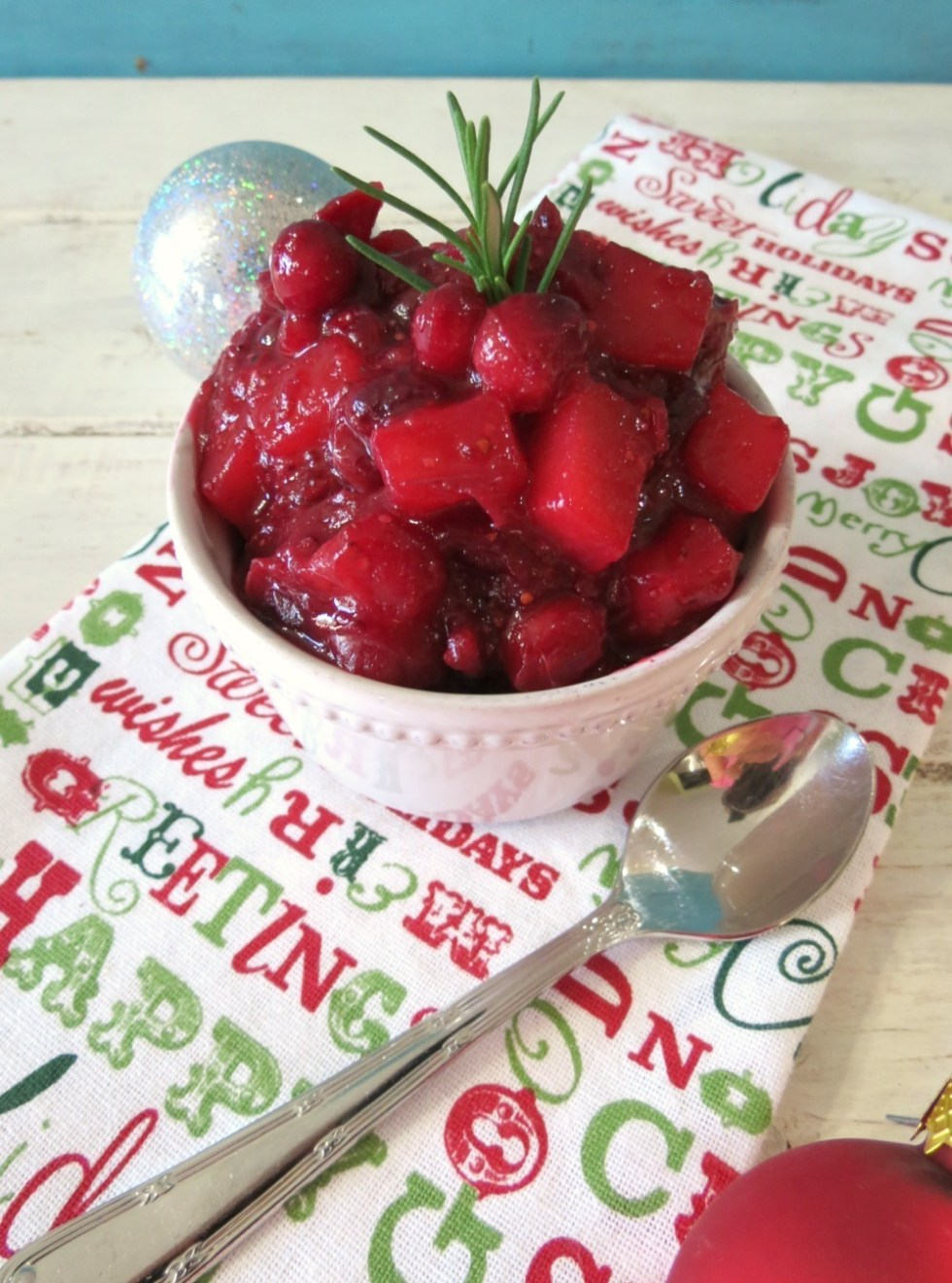 Cranberry, Pear and Rosemary Chutney