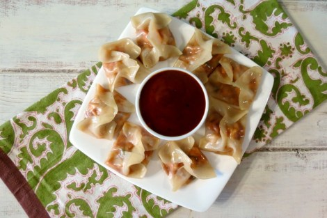 BBQ Chicken Potstickers #HolidayDetox