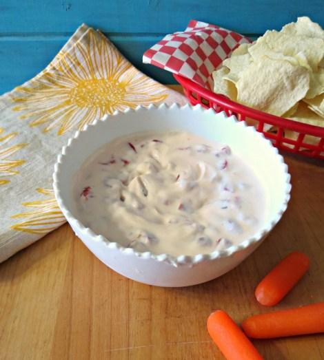 Roasted Red Peppers Yogurt Dip