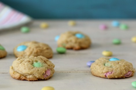 Lightened Up Buttery M&M Cookies