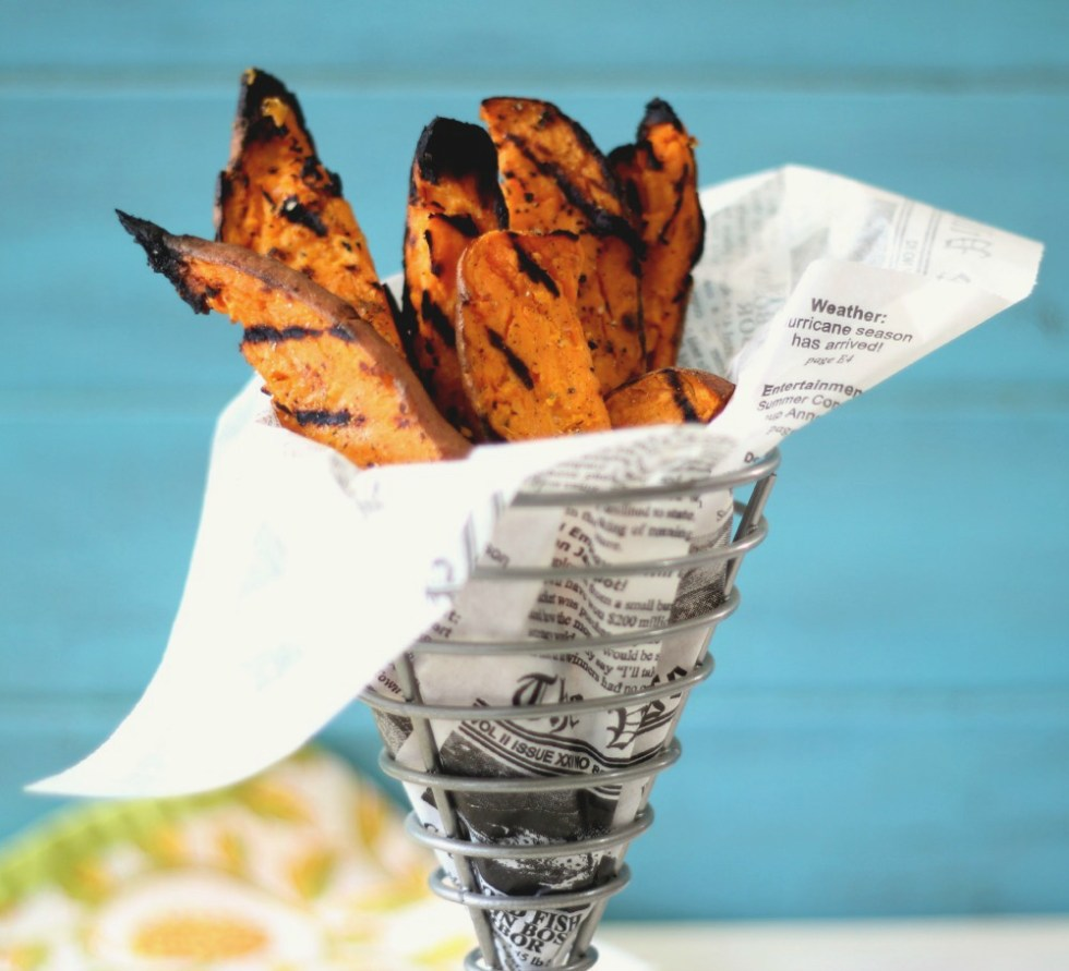Grilled Chipotle Lime Sweet Potato Fries