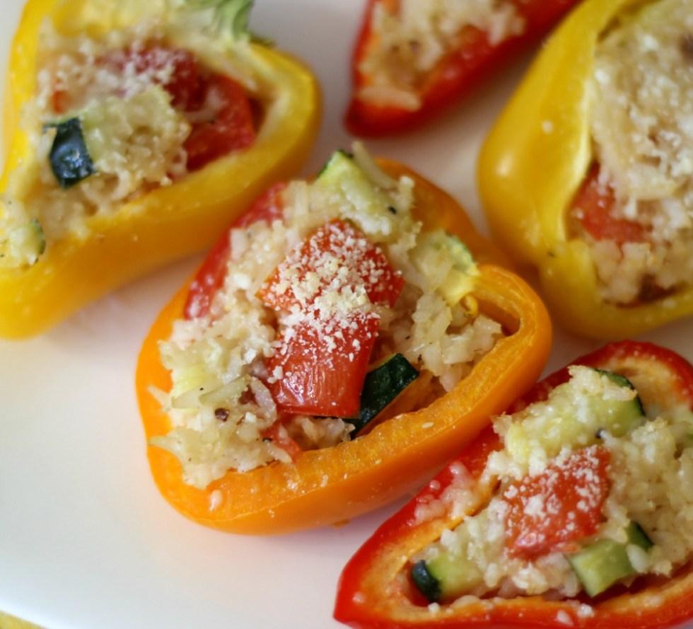 Basmati Rice and Vegetable Stuffed Mini Bell Peppers