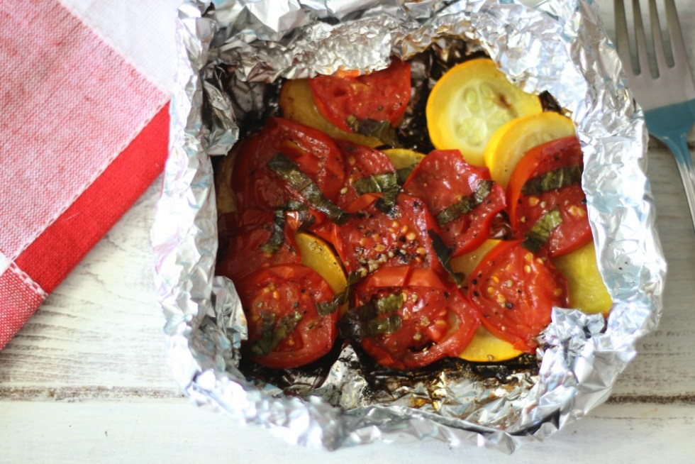 Grilled Zucchini and Tomato Packets