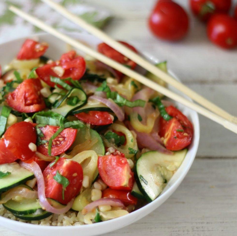 Summertime Vegetarian Stir Fry