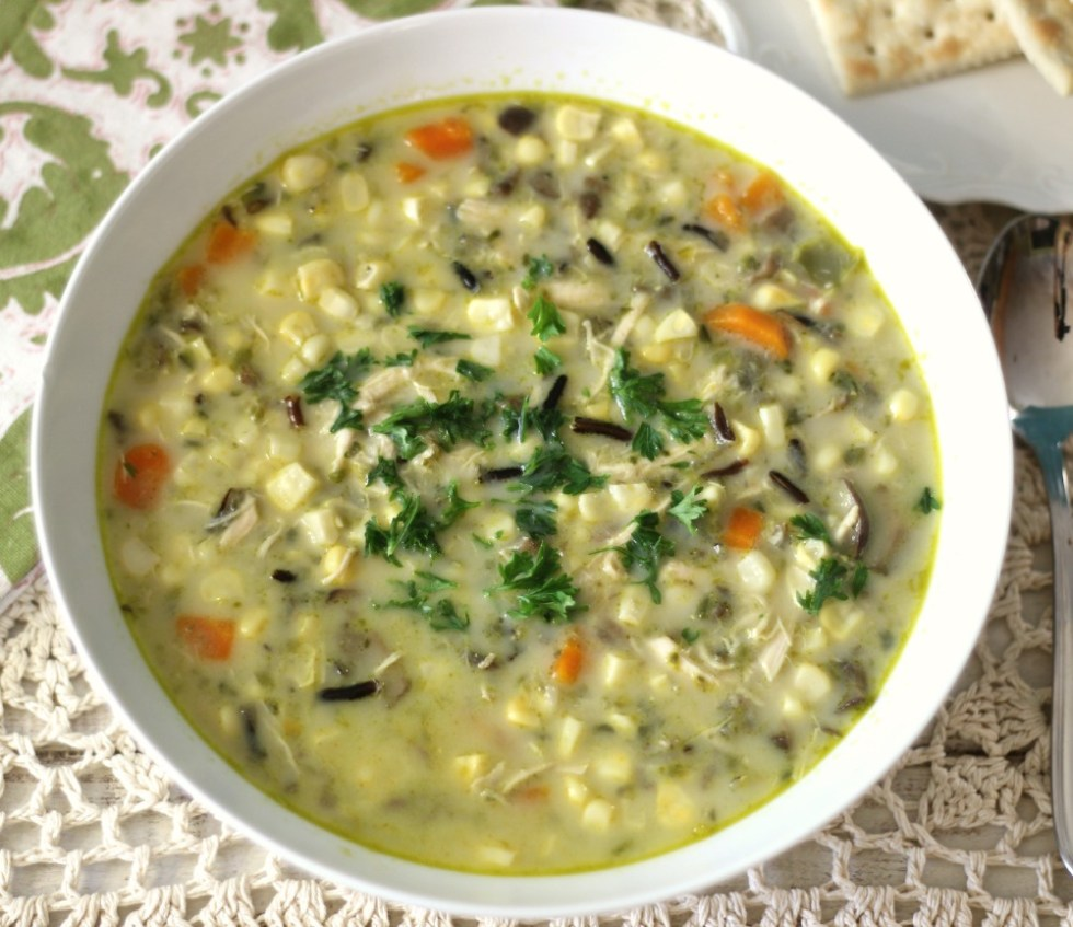 Corn Chowder with Wild Rice