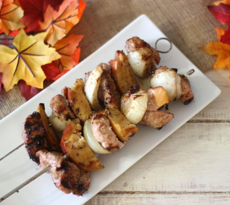 Pork and Apple Shish Kabobs