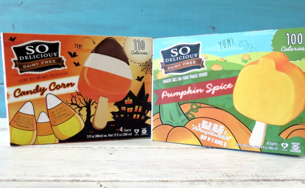 So Delicious Pumpkin Ice Cream Bars and Candy Corn Ice Cream Bars