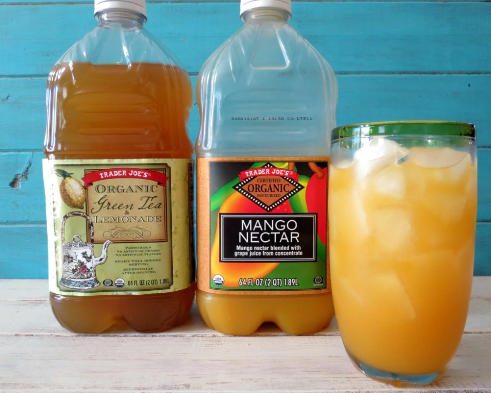 Trader Joe's Green Tea Lemonade and Mango Nectar