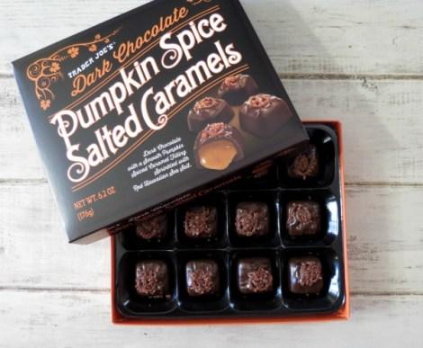 Trader Joes Dark Chocolate Pumpkin Spice Salted Caramel