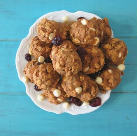 Cranberry White Chocolate-Pumpkin Oatmeal Cookies