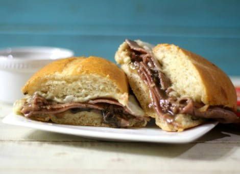 Roast Beef and Mushroom Sandwich