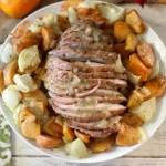 Roasted Pork with Persimmons