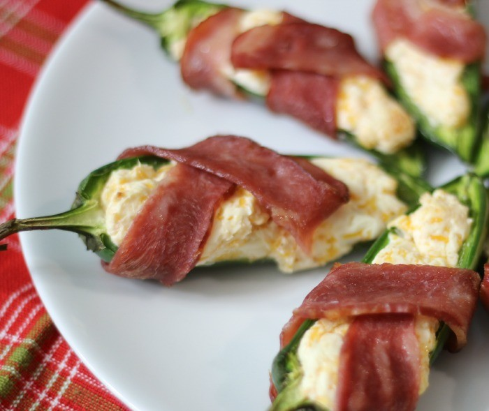 Jalapeno Poppers Wrapped in Bacon #SundaySupper