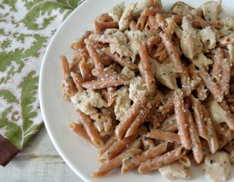 Creamy Herb & Garlic Chicken Pasta