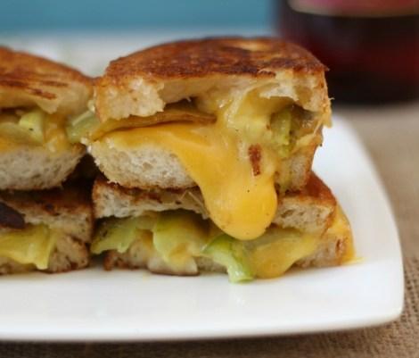 Garlicky Anaheim Pepper Grilled Cheese #SundaySupper