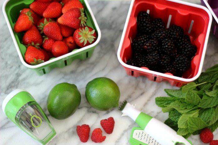 Skinny Berry Margarita #cookingwithcrisp