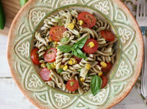 Jalapeno Pesto Pasta Salad