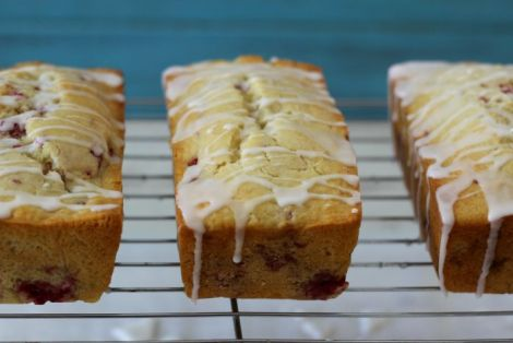 Rasberry Lemon with Lemon Glaze Bread
