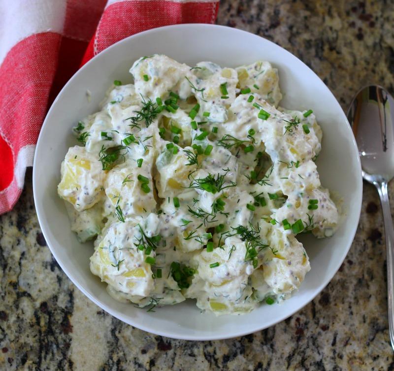 Lightened Up Creamy Potato Salad