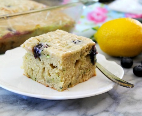 Blueberry Lemon Zucchini Cake