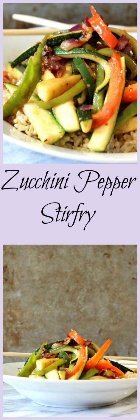 Zucchini Pepper Stir-Fry