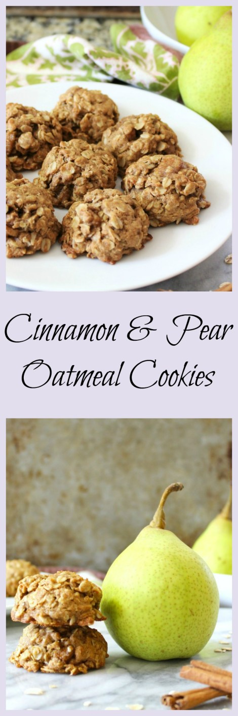 Cinnamon & Pear Oatmeal Cookies