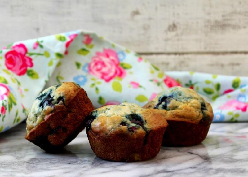 Skinny Blueberry Banana Muffins