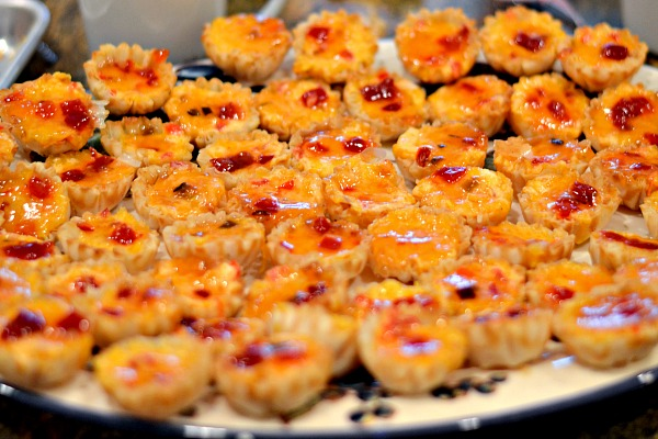 pimento cheese pepper jelly phyllo cups
