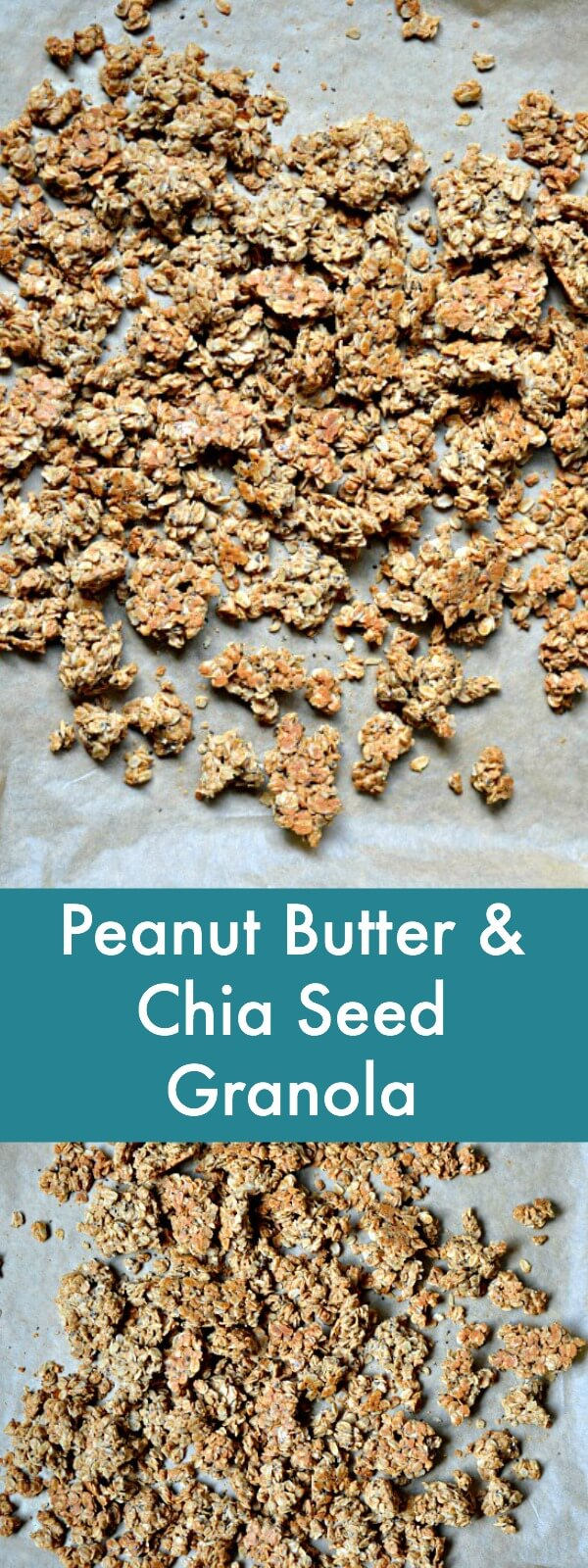 This Peanut Butter and Chia Seed Granola features a short ingredient list and quick prep time to provide you with a cheaper and tastier alternative to store-bought granola.