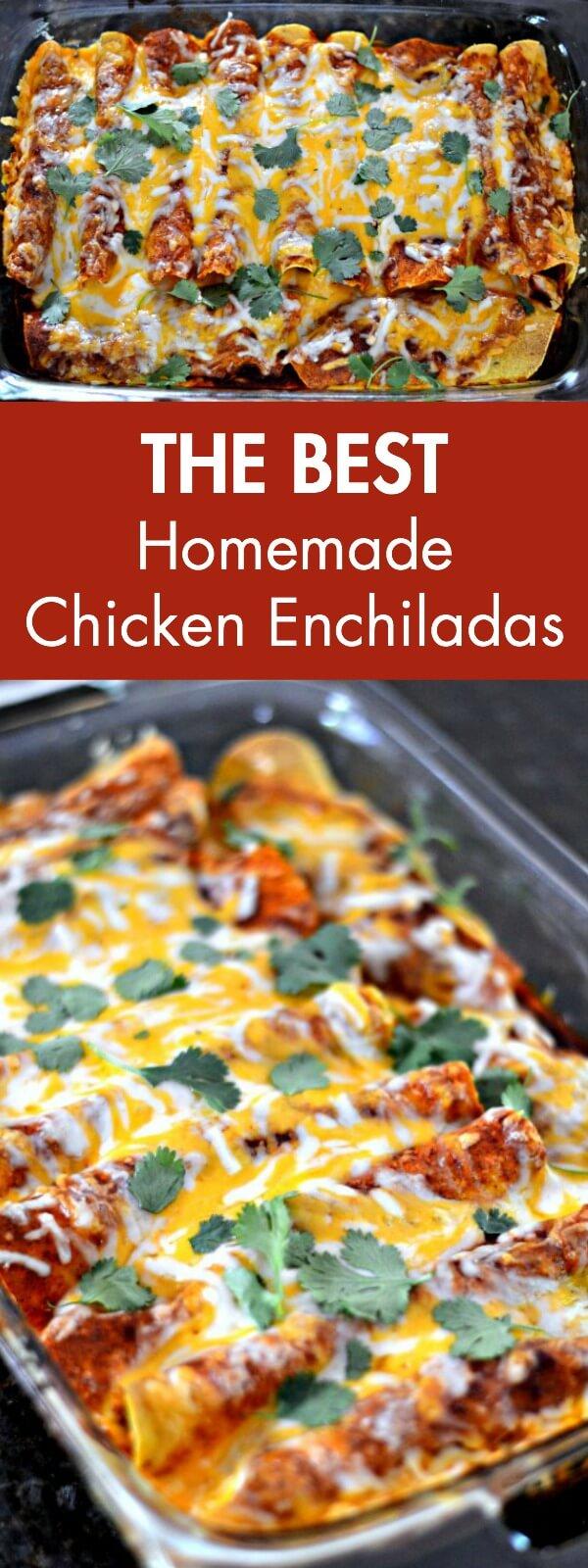 Homemade Chicken Enchiladas