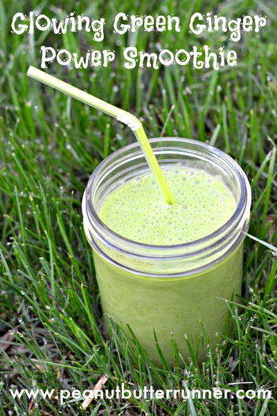 Glowing Green Ginger Power Smoothie