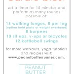 Butt Burner Cardio Blast Workout + Weekly Workouts