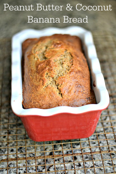 Peanut Butter and Coconut Banana Bread