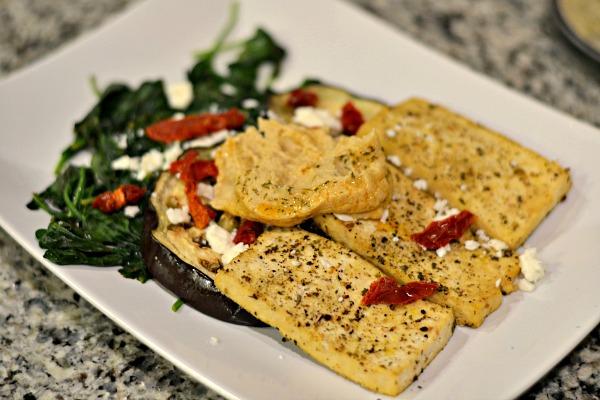 Tofu and Eggplant Dinner