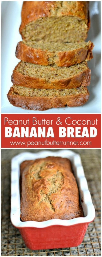 Healthier Banana Bread with Peanut Butter and Coconut